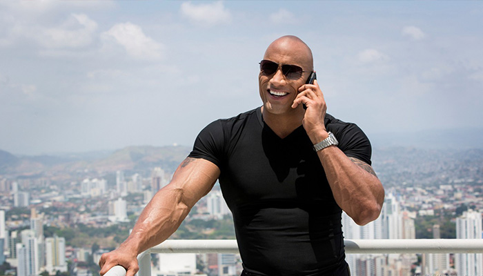 The Rock Curi Perhatian Seleb Hollywood Lantaran Temani Putrinya Bermain